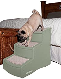 Pet Gear Easy Step III Pet Stairs, 3-step/for cats and dogs up to 150-pounds, Sage
