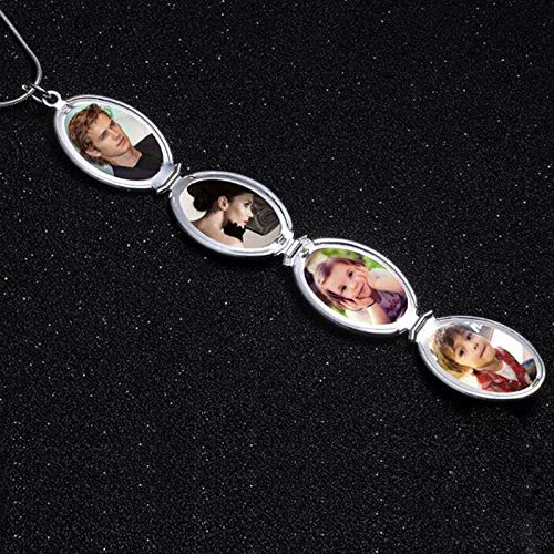 Living Memory Photo Flower and Cloud Locket Necklace Holds Pictures Lockets Necklaces for Girls
