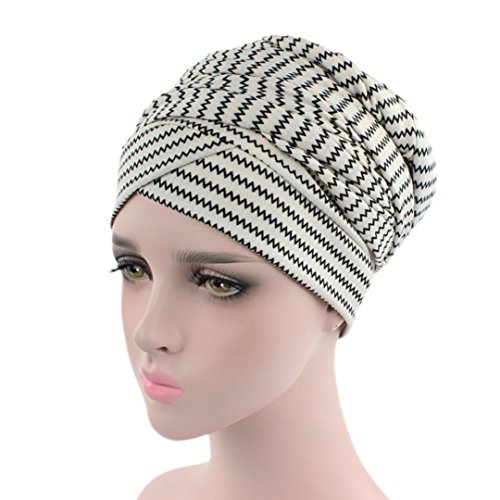 Beautyfine India Muslim Hats, Women Elastic Turban Print Hat Head Scarf (Cowboy Hats Near Me)