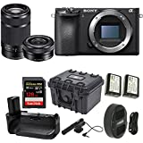 Sony Alpha a6500 24.2MP Wi-Fi Mirrorless Camera 16-50mm & 55-210mm Zoom Lens (Black) + 128GB Video Bundle
