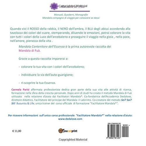 Mandala Contenitore Dellessenza Da Colorare Italian Edition