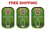 Sardines in olive Oil Omega-3, 3 tins x 120 g, Bon Appetit/Portugal