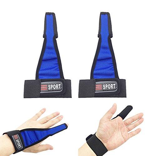 (2 PCS Professional Neoprene Anti-Slip Fishing Gloves Single-Finger Fish Stall Glove Index Finger Protector (Blue-2Pcs))