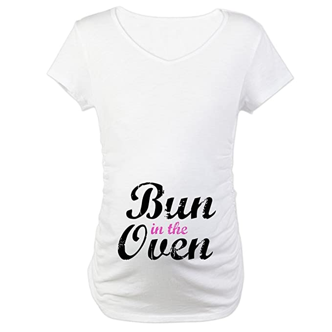 CafePress Bun in the Oven Maternity T-Shirt Maternity Tee at