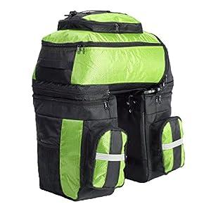 Pellor 70L MTB Bike Waterproof 3 in 1 Rear Bicycle Bag Pannier Bags Bike Rack Bag With Rain Cover