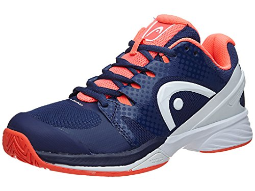 HEAD Nitro Pro Women's Tennis Shoes Navy/Coral 9.5