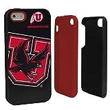 NCAA Utah Utes Hybrid Case for iPhone 5/5s, Black, One Size
