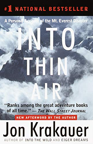 Pdf Reference Into Thin Air: A Personal Account of the Mt. Everest Disaster