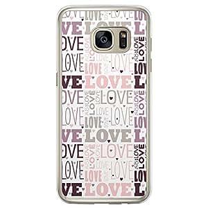 Loud Universe Samsung Galaxy S7 Edge Love Valentine Files Valentine 177 Printed Transparent Edge Case - Multi Color