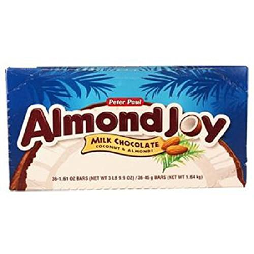 Product Of Almond Joy, Milk Coconut Chocolate Bar, Count 36 (1.61 oz) - Chocolate Candy / Grab Varieties & Flavors