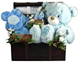 Gift Basket Village It's a Boy Deluxe Baby Set in Wooden Trunk
