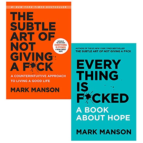 Mark Manson Collection 2 Books Set (The Subtle Art of Not Giving a Fck, Everything Is Fcked)