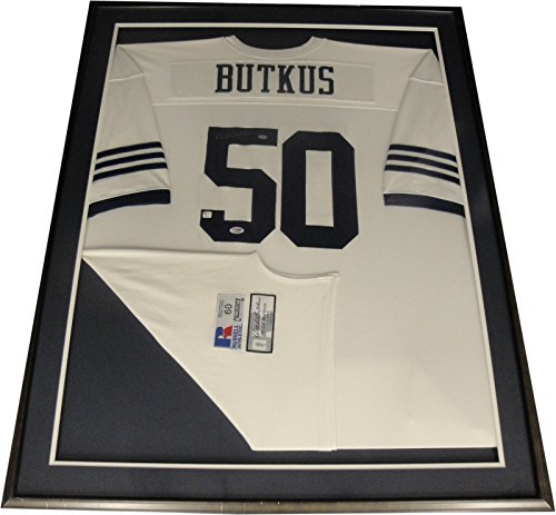 Dick Butkus Hand Signed Autographed Illinois Jersey Custom Framed PSA/DNA