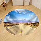 Gzhihine Custom round floor mat Road Through American Southwest Utah United States