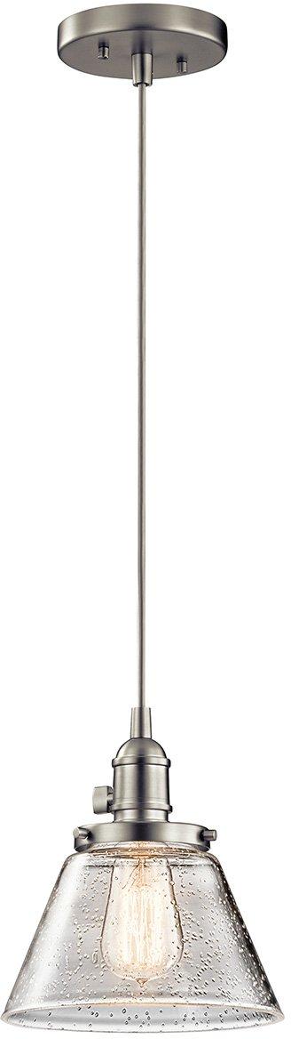 Kichler 43851NI Avery Pendant, 1 Light Incandescent 100 Watts, Brushed Nickel