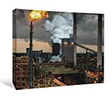 """JP London DDCNV1 X 477825 Ready to Hang Feature Wall Art 780A° a€"""" Industrial Pleasure Bartertown Metal Fire 2'' Thick Heavyweight Gallery Wrap Canvas 60'' x 40''"""