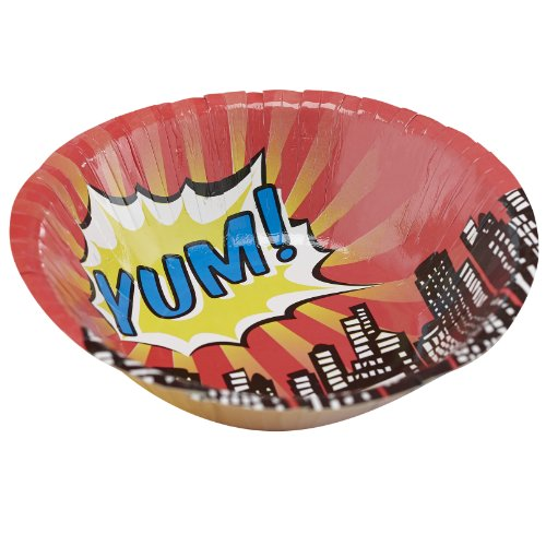 Superhero Party Paper Bowls