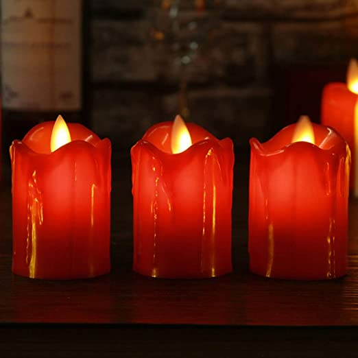 wangZJ 3pcs / lot llevó la vela sin llama/plástico llama ...