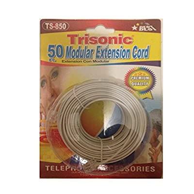Trisonic Telephone Phone Extension Cord Cable Line Wire