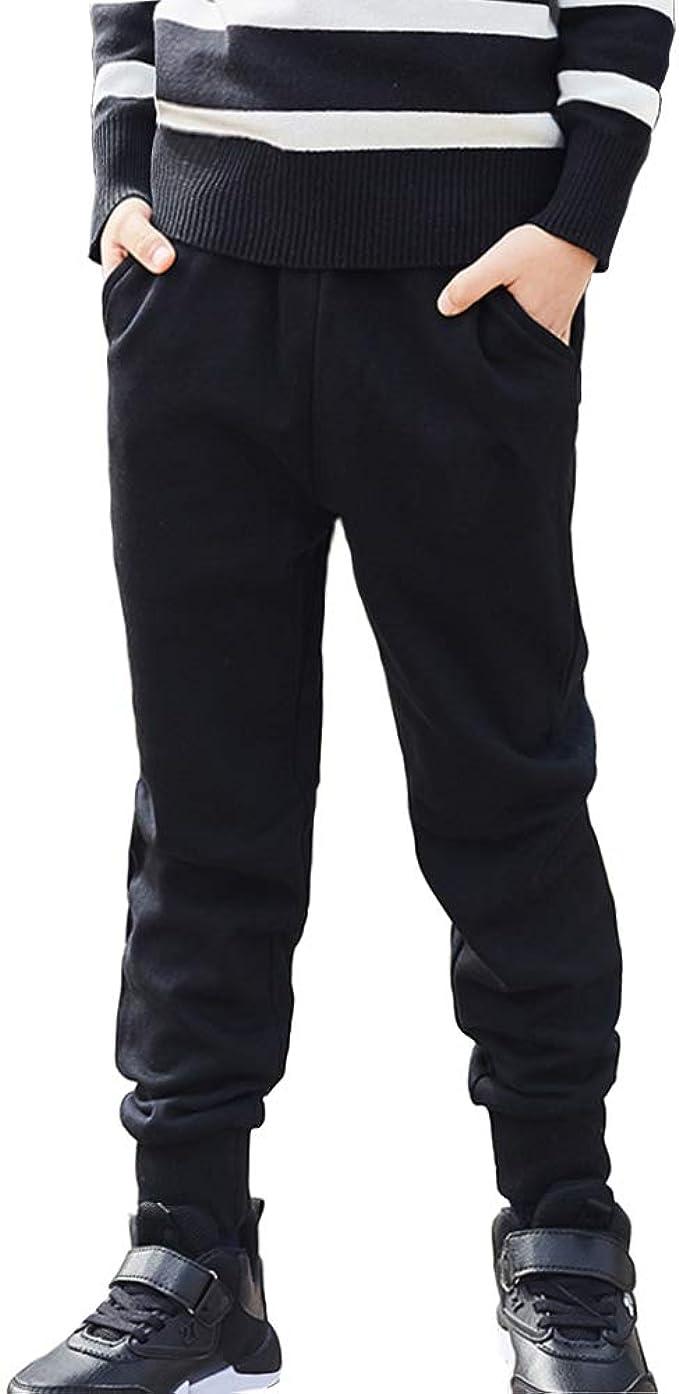ALALIMINI Toddler Boys/&Girls Active Jogger Pants Cotton Drawstring Sweatpants 1-Pack 2-Pack