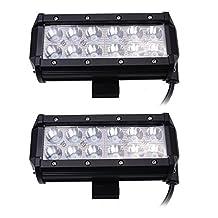 AGPtek®2x7inch 36W Cree LED Work Light Bar Spot Truck Driving Lamp 4WD US