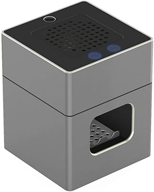 Purificador de aire, filtro de carbón activado purificador de humos, adecuado para el hogar y el humo de segunda mano coche inteligente de escritorio purificación de aire cenicero electrónico,Gris: Amazon.es: Hogar