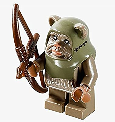 LEGO Star Wars Minifigure - Ewok Warrior Dark Tan with Bow and Arrow Weapon (10236)