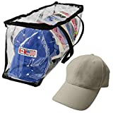 Evelots Baseball Cap Storage Bag Zipper Organizer Clear Plastic W/ Black Handles (Kitchen)