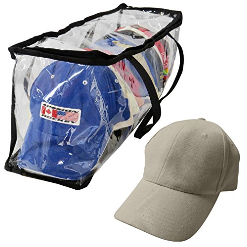 age Bag-Baseball-Organizer-Handles-Dust,Moisture Free-15 Hat ()