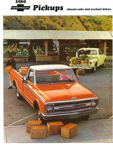 - 1969 CHEVROLET TRUCK & PICKUP ACCESSORIES AND FEATURES SALES BROCHURE - Also Medium Duty, Blazer, El Camino, Suburban, Carryall, Vans, Tilt Cab and Camper