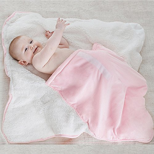 Cute Blanket Sleepers for 0-12 Months Baby Kid, Animal Model Sleeping Bag Infant Cotton Slumber Bag, Pink]()