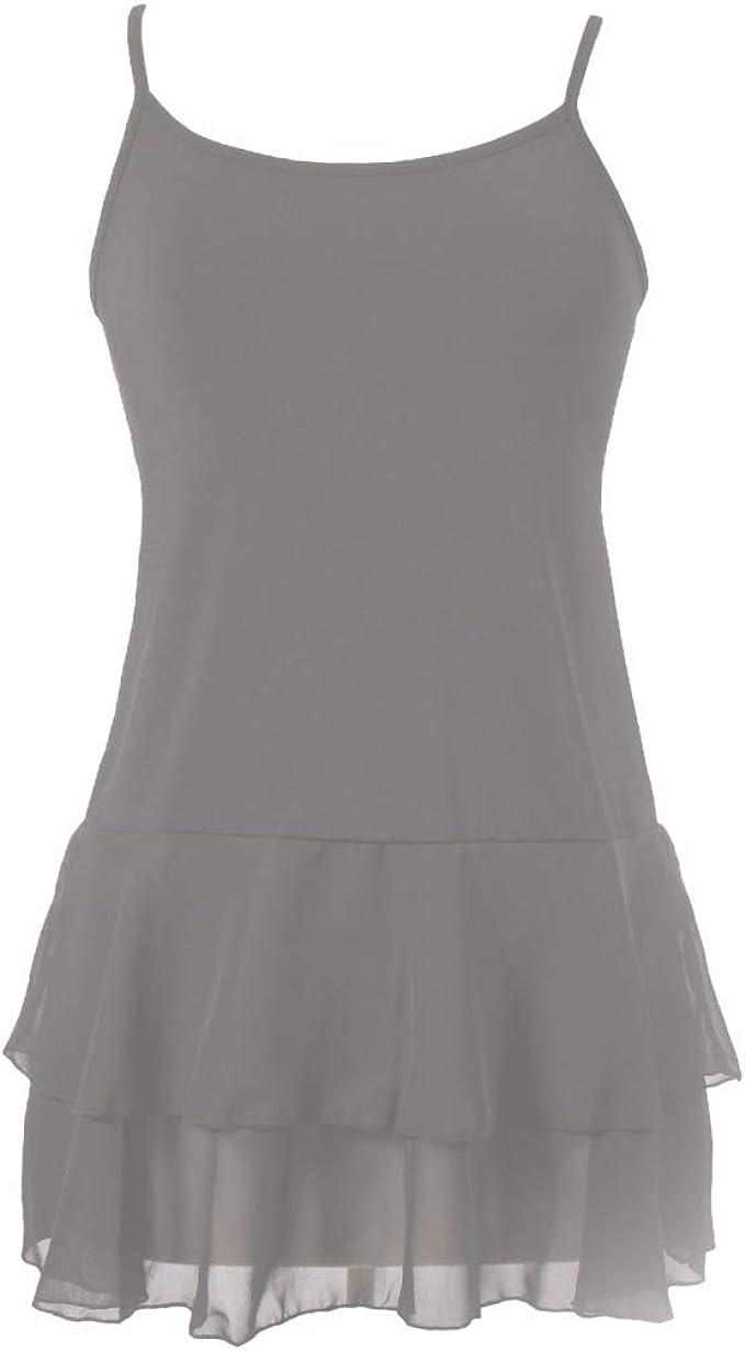 Peekaboo-Chic Iris - Extensor de camisa de gasa para mujer, extensor de camisa de tirantes con capas para mujer