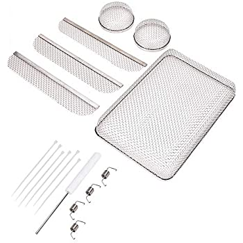RV Furnaces Vent Mesh Screen & Water Heater Vent Mesh Screen & Refrigerator Vent Mesh Screen-Refrigerator vent mesh screen size: 8.1'' x 1.5