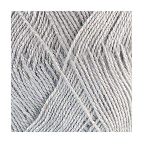 Super Soft Sock Yarn (BambooMN Brand - Delightfully Super Soft Bamboo Tencel Fine Yarn - 4 Skeins - Col 22 Cloudly Grey)