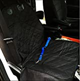 feinere vorne Hund Sitzbezüge Schutzfolie Wasserdichtes Material für Hunde, inklusive blau Sicherheitsgurt Deluxe Hund Sitz Cover mit verstellbare Schnalle Verschluss, für die meisten Autos, Lastwagen, SUV Bucket Sitze
