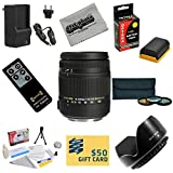 Sigma Super Zoom 18-250mm f/3.5-6.3 DC Macro OS HSM (Optical Stabilizer) 883-101 Lens With 3 Year Extended Lens Warranty For the Canon EOS 7D 60D 60Da 70D DSLR Digital Camera includes 3 Piece 62mm Pro Filter Kit (UV, CPL, FLD) + Replacement Battery Pack for the Canon LP-E6 LPE6 2600MAH + 1 Hour AC/DC Battery Charger + Remote Control + Deluxe Lens Cleaning Kit + LCD Screen Protectors + Mini Tripod + 47stphoto Microfiber Cloth + $50 Photo Print Gift Card