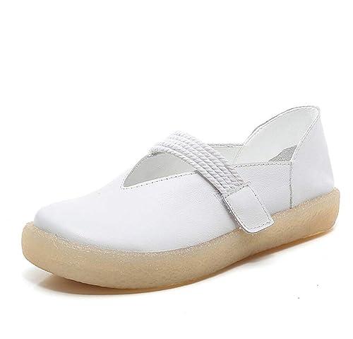 Mocasines para Mujer Zapatos Antideslizantes con tacón Plano Comodidad literaria Zapatos Mary Jane Otoño: Amazon.es: Zapatos y complementos