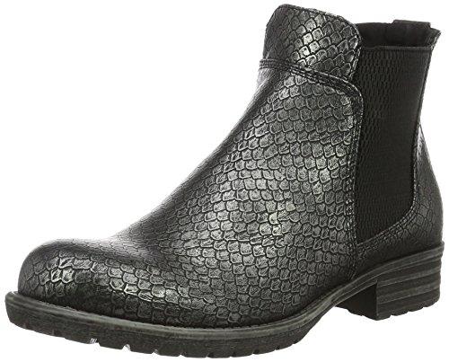 Bullboxer AEQF6S514 - Zapatillas de cuero para mujer (Chelsea Boots) Gris