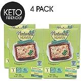 Natural Heaven Lasagna Hearts of Palm Noodles - 4 Packs of 9 oz - Low Carb, Gluten Free, Keto Friendly, Vegan, Paleo, Non Gmo, High Fiber, Plant Based