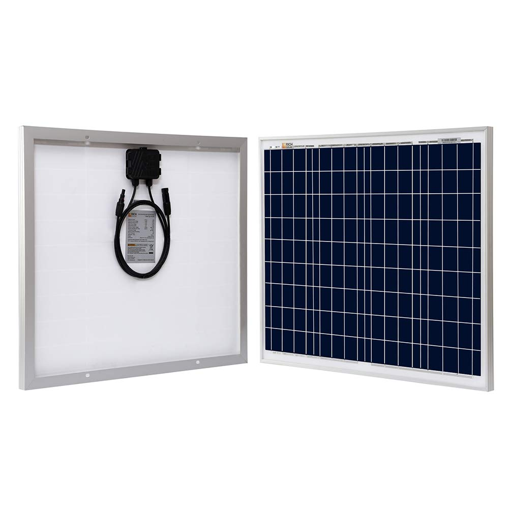 Richsolar 50 Watt 12 Volt Polycrystalline Solar Panel (50W) RICH SOLAR