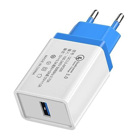 Universal cargador rápido usb qc3.0 Cargador rápido USB 18 W Adaptador para teléfono portátil iphone Samsung Huawei Xiaomi US/UE enchufe