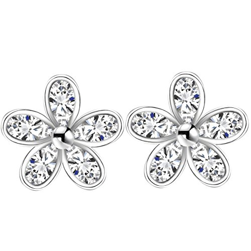 Jewels Sterling Crystal Zirconia Earrings