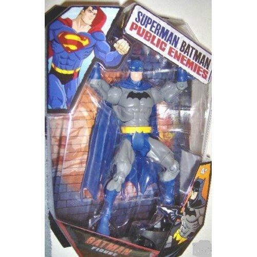 Mattel DC Superman Batman Public Enemies Action Figure Batman Build Brimstone Piece! Blue Cape