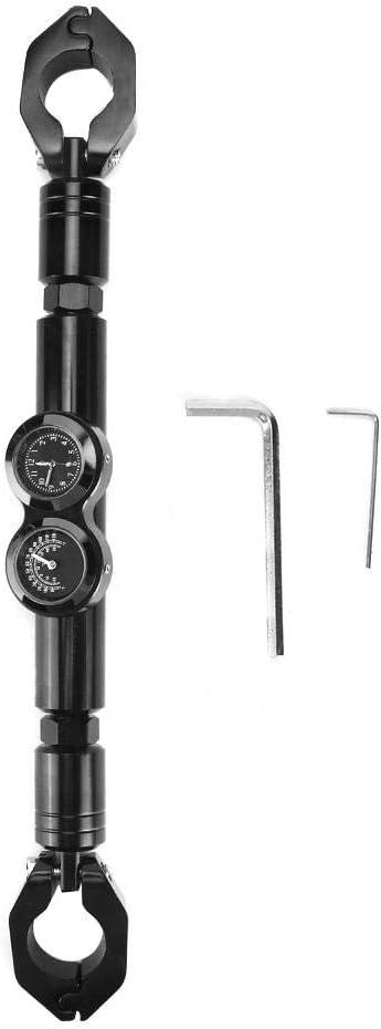 Aluminium Legierung Einstellbar Motorrad Querlatte Balance Bar/Änderung Zubeh/ör Stange mit Lehre Suuonee Motorrad Lenker Black