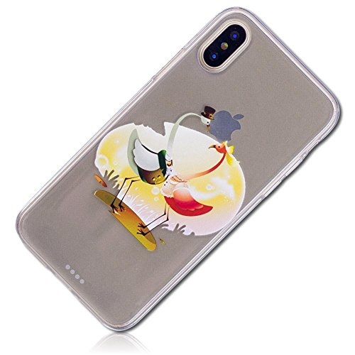 mySimple Custom Made FLEX-Gel Silicone Fitted Case for Apple iPhone 7 PLUS & 8 PLUS w/ Soft Flexible Shock Absorbing Bumper Guard Edge & Flamingo Pair w/ Hat Pearls Clothes Misty Sunset {Multicolor}