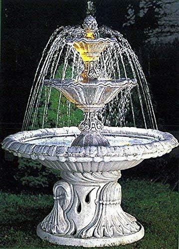 pompidu-living Fuente, Pozo Jardín, Fuente Ornamental, Fountain, Monte Carlo (Sin Sprühring) - Acabado Antiguo: Amazon.es: Jardín