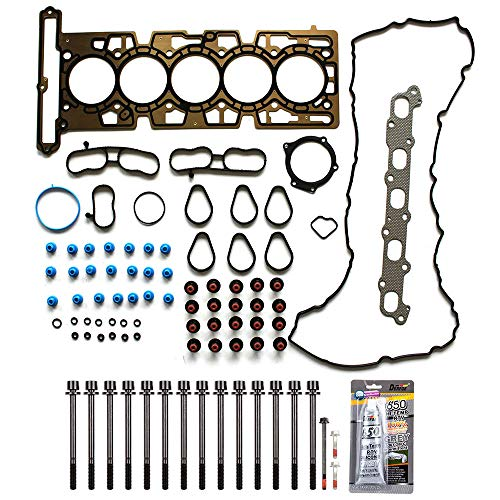 cciyu Engine Head Gasket Bolts Kit Replacement fit for 04-06 GMC Canyon Hummer H3 Chevrolet Colorado Isuzu i-350 (HS26336PT)