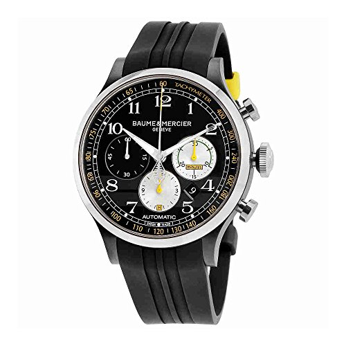 Baume-Mercier-Shelby-Capeland-Chronograph-44mm-Mens-Watch-on-Rubber-Strap