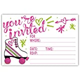Roller Skate Party Invitations (20 Count) With Envelopes