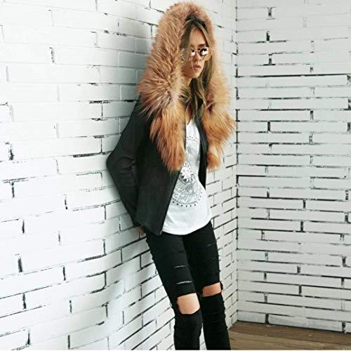 Moto Similpelle Autunno Giacca Abbigliamento Di Schwarz Moda Con Giubbotto Vintage Colore Festiva Cappotto Cerniera Elegante Donna Lunga Puro Primaverile Giacche Manica In Pelle Incappucciato P8Fwanq